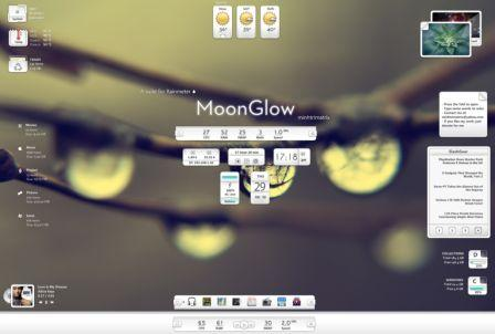 MOONGLOW rainmeter skin